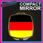 GERMANY GERMAN FLAG COMPACT LADIES METAL HANDBAG GIFT MIRROR